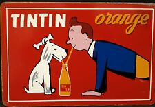 Tintin Orange Vintage Retro Metal Sign Plaque Home Decor Pub Garage Workshop