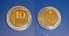 Israel Special Issue 10 New Sheqalim 1995 Golda Meir Bimetallic Coin XF