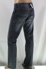 100% AUTHENTIC GUESS MEN JEANS RELAXED STRAIGHT  FIT SZ 33 BLUE INSEAM 34