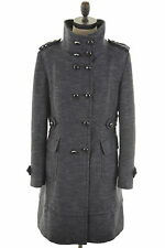 KAREN MILLEN Womens Trench Coat Size 14 Medium Navy Blue Wool