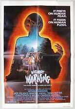 WITHOUT WARNING. aka IT CAME WITHOUT WARNING. Movie One Sheet poster. 1980