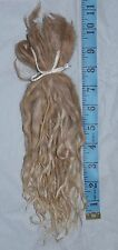 Alpaca Suri Locks ~ Blonde ~ 10 inches ~ Doll hair ~ Lock Spinning ~1 oz.