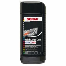 SONAX Polish & Wax Color Nano Pro black dark grey color car 250 ml