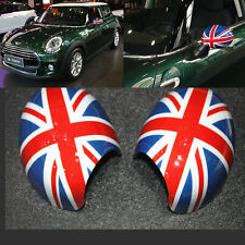 Red Union Jack Style Side Mirror Covers Caps For MINI Cooper R55 R56 R57 R60 R61