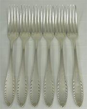 Christofle modèle Albatros, 6 fourchettes de table, métal argenté très bon état.