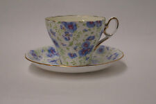 Shelley China Chintz Fine Bone ChinaBlue Pansy Tea Cup & Saucer