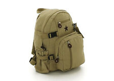 ROTHCO VINTAGE CANVAS MINI BACKPACK BOOK BAG/ STAR-KHAKI