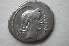 Retrato De Roma Antigua Moneda De Plata Denario Julio César 1st Century BC César
