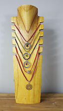 Necklace Jewellery Display Stand Multiple Natural Business or Personal Wooden