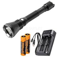 Fenix TK47 1300 Lumen Neutral White LED Flashlight w/ 2x 3500mAh 18650 & Charger