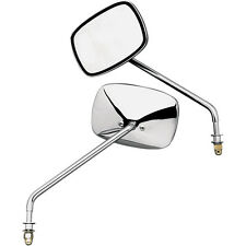 Emgo Chrome Long Stem Standard Mirror Set for Harley Models
