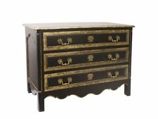 Mahogany- Ming Chest of 3 Draws with antique gold trim