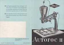 DRESDEN, Prospekt 1953, VEB Filmosto-Projektion Vergrößerungs-Objektiv Helioplan