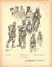 Uniforme Armée Allemande Feldgrau Deutsches Heer de Charles Fouqueray 1914 WWI