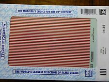 "Microscale Decal #91145 Stripes 6"" Wide - Red (1:87 Scale)"