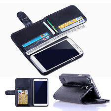 New Card Holder Flip Wallet Leather Case Cover For Samsung Galaxy S 5 i9600