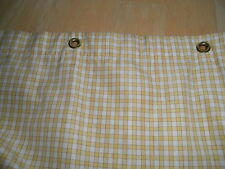 Cotton Heavy Lined Shower Regular CURTAIN Grommet Holes Yellow White Teeny Check