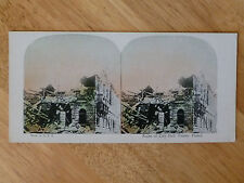STEREOVIEW VIEW CARD - WW1 - Ruins of City Hall, Fismes, France