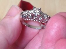 WOW VINTAGE DIAMOND 18ct WHITE GOLD RING GORGEOUS!