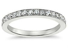 0.50 ct Ladies One Row Diamond Wedding Band Ring In 18 kt White Gold