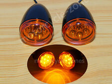 Black Turn Signal Indicator Light Blinker For Harley XL 883 1200 Sportster 92-16