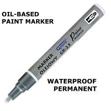 Silver Paint Marker Oil Based Waterproof Pen Wood Glass Plastic Tyre Rubber