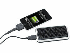SOLAR CHARGER FOR IPHONE/PHONE/SMARTPHONE/USB DEVICES POWERBANK 3000 MAH