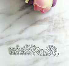 best wishes Dies Stencil For DIY Scrapbooking Embossing Decor Craft card #F18