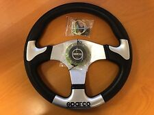Sparco 015THPUGR345 Steering Wheel P 222 Silver NEW OPEN BOX