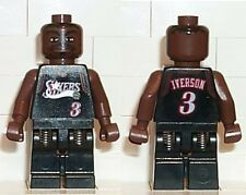LEGO - NBA Allen Iverson, Philadelphia 76ers #3 (Black Uniform) - MINI FIGURE