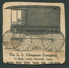 Trade Card Advertisement THE L L CHAPMAN COMPANY Norwich Conn Carriages Keystone