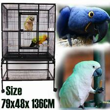 Large Stand-Alone Aviary Bird Cage for Midieum & Small Bird on Wheels 136cm High