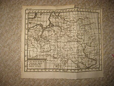 IMPORTANT EARLY ANTIQUE 1752 POLAND LITHUANIA BUFFIER COPPERPLATE MAP PRUSSIA NR