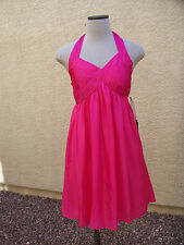 Pirouette Los Angeles Pink Silk Habotai Chelsy Halter Dress - 14