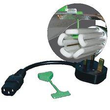Lumii HID per CFL Converter Cable / lead / FILO GANCIO-UK Plug-Illuminazione / idroponica