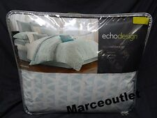 ECHO DESIGN Mykonos 4 Piece KING Comforter Set Ivory / Aqua