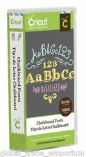 BRAND NEW Cricut CHALKBOARD FONTS Cartridge - For all Cricut Machines 2002127