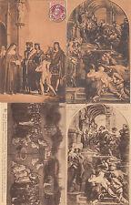 Lot 4 cartes postales anciennes BELGIQUE GAND GENT saint bavon