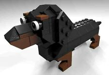 Black and Brown Lego Dachshund Parts & Instructions Kit