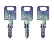 (3) FIC Fastec RV Motorhome Travel Trailer Key Cut to Your Code CF EF  HF301-351