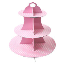 3 Tier Paper Foldable Cupcake Cake Stand Wedding Birthday Display Tower Rack