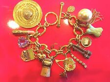 2005 JUICY COUTURE 12 CHARM PREFIXED BRACELET VHTF