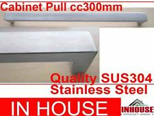 Cabinet Pull 300x20x30mm-Satin stainless steel
