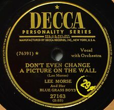 Lee Morse & Her Bluegrass Boys Don't Even Change a Picture 78 Western Pop Longin