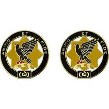 "USA Army Unit Crest 1st Cavalry Regiment  ""ANIMO ET FIDE"" 1 PAIR   (Army Issue)"