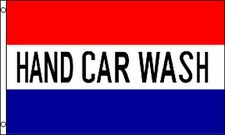 HAND CAR WASH Flag 3x5 ft Business Advertising Sign Banner Detailing Auto Red