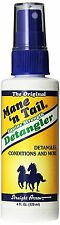 Straight Arrow Mane N Tail Equine Horse Detangler Spray Non-Sticky Formula 4oz