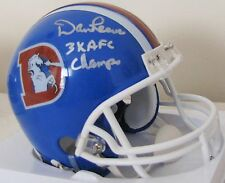 Dan Reeves Autographed Denver Broncos Mini Helmet with 3X AFC Champs Inscription