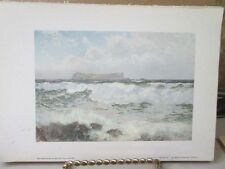 Vintage Print,STAFFA,Water Colours Society,1804-1904