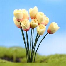 FD2286 Cute Tulips Miniature Dollouse Garden Craft Fairy Bonsai Sprite Decor 1pc